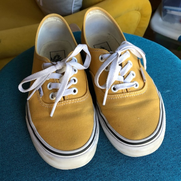 64732504f9 Mustard yellow Vans. M 5c3661943c9844b3bed6e542